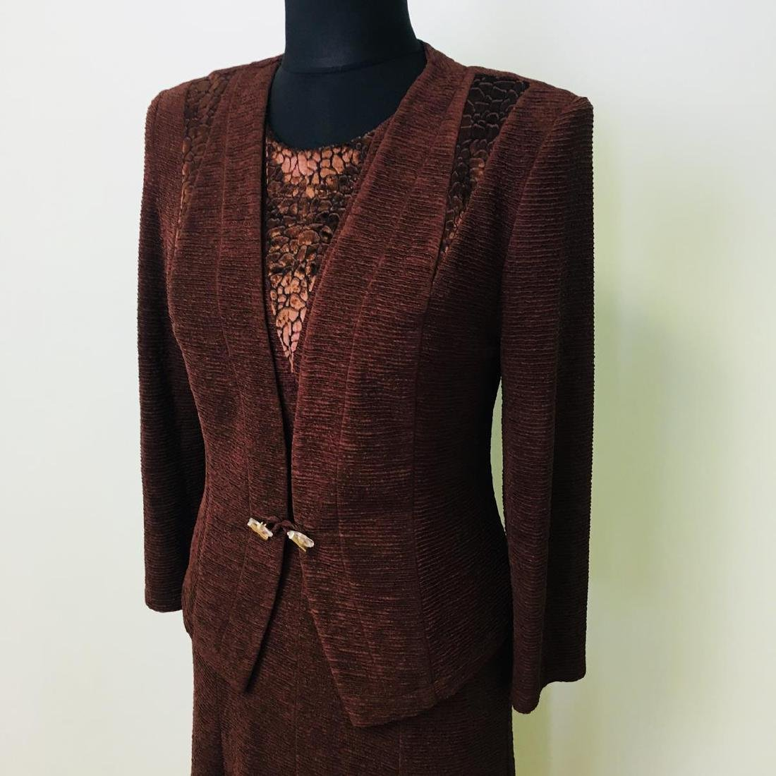 Vintage Women's 2 Piece Evening Jacket Dress Size M - 2
