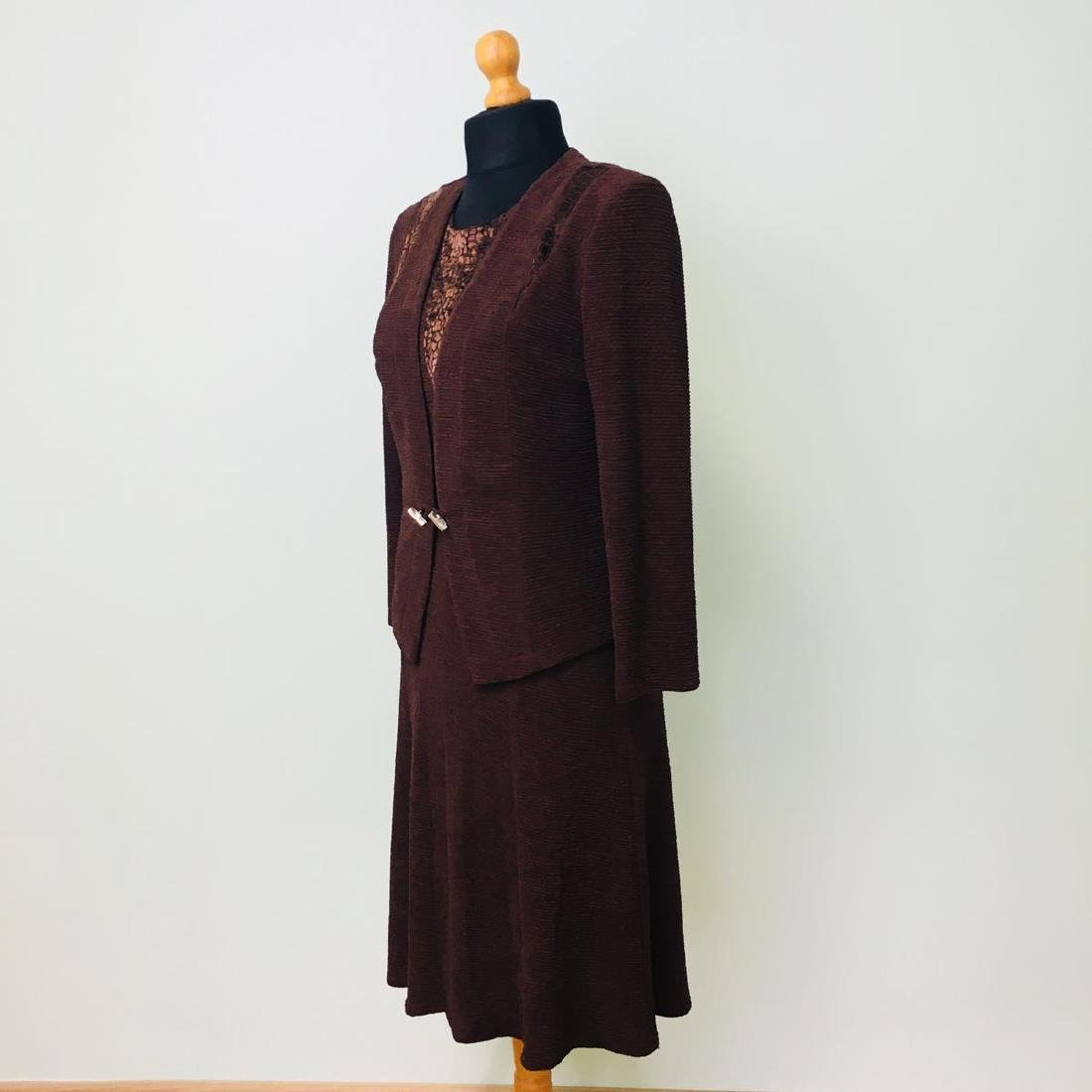 Vintage Women's 2 Piece Evening Jacket Dress Size M - 3
