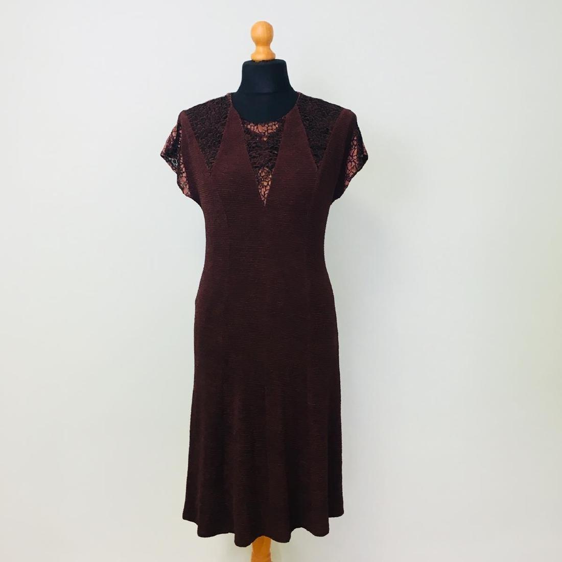 Vintage Women's 2 Piece Evening Jacket Dress Size M - 5