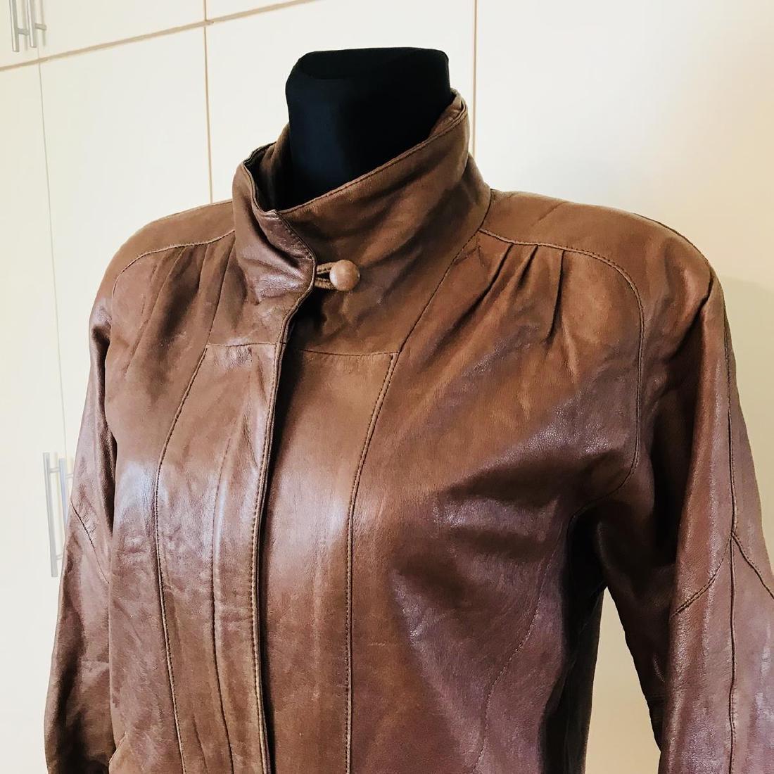 Vintage Women's Leather Jacket Coat - 2