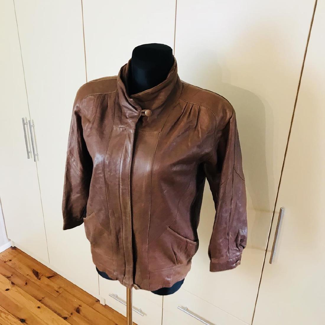 Vintage Women's Leather Jacket Coat - 3