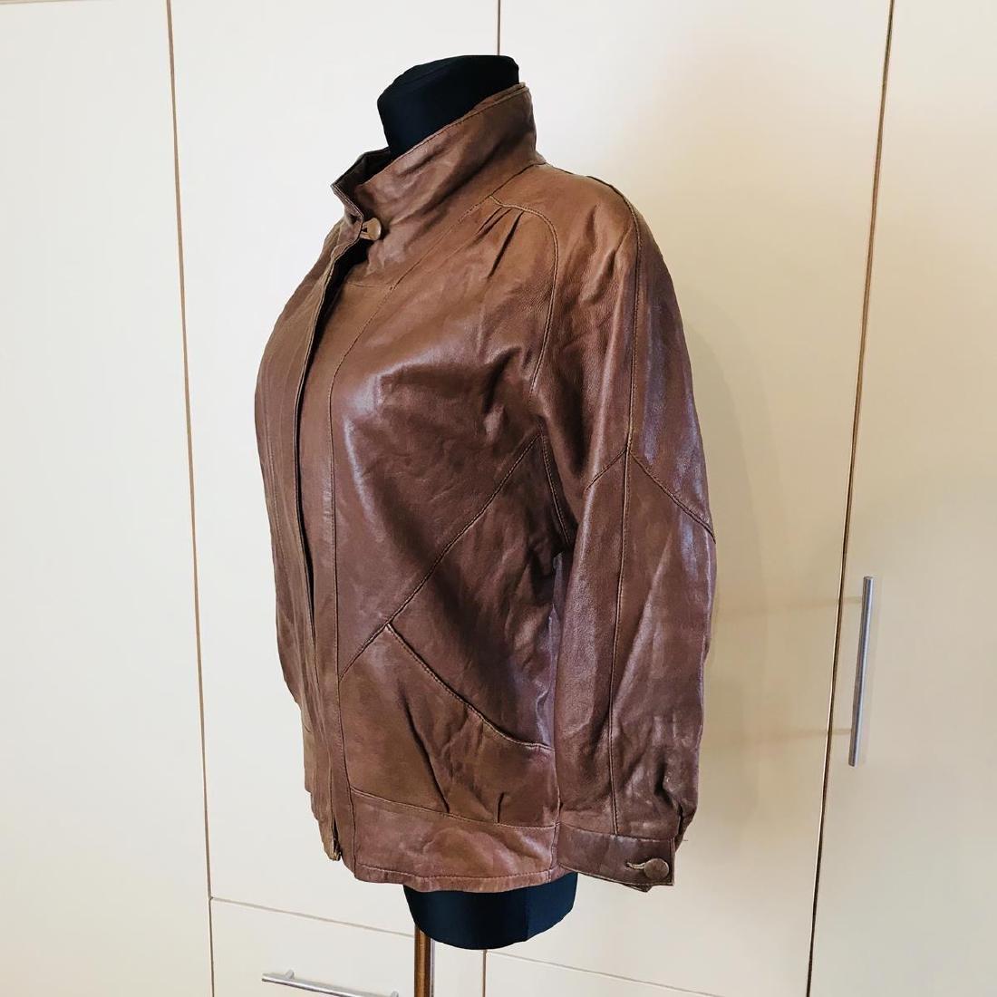 Vintage Women's Leather Jacket Coat - 4