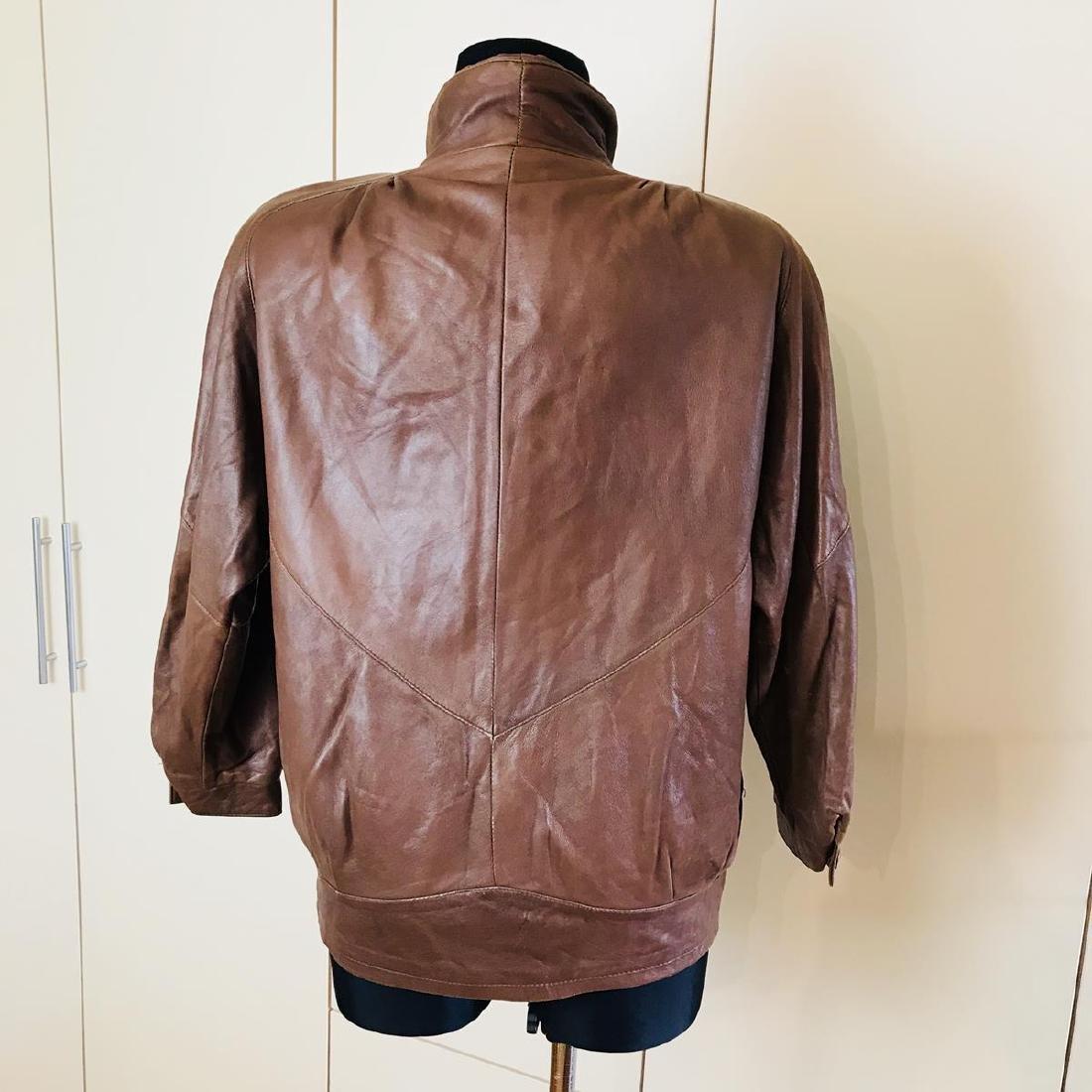 Vintage Women's Leather Jacket Coat - 5