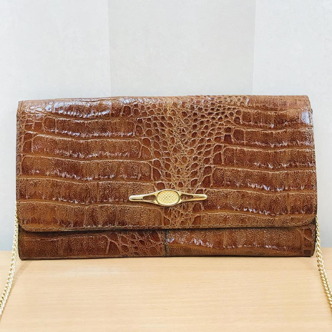Vintage Crocodile Leather Clutch Bag