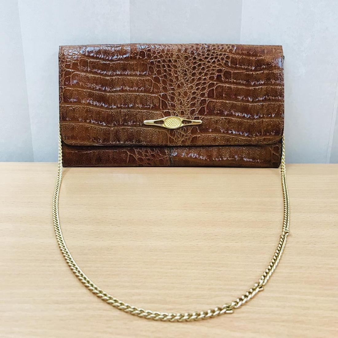 Vintage Crocodile Leather Clutch Bag - 2