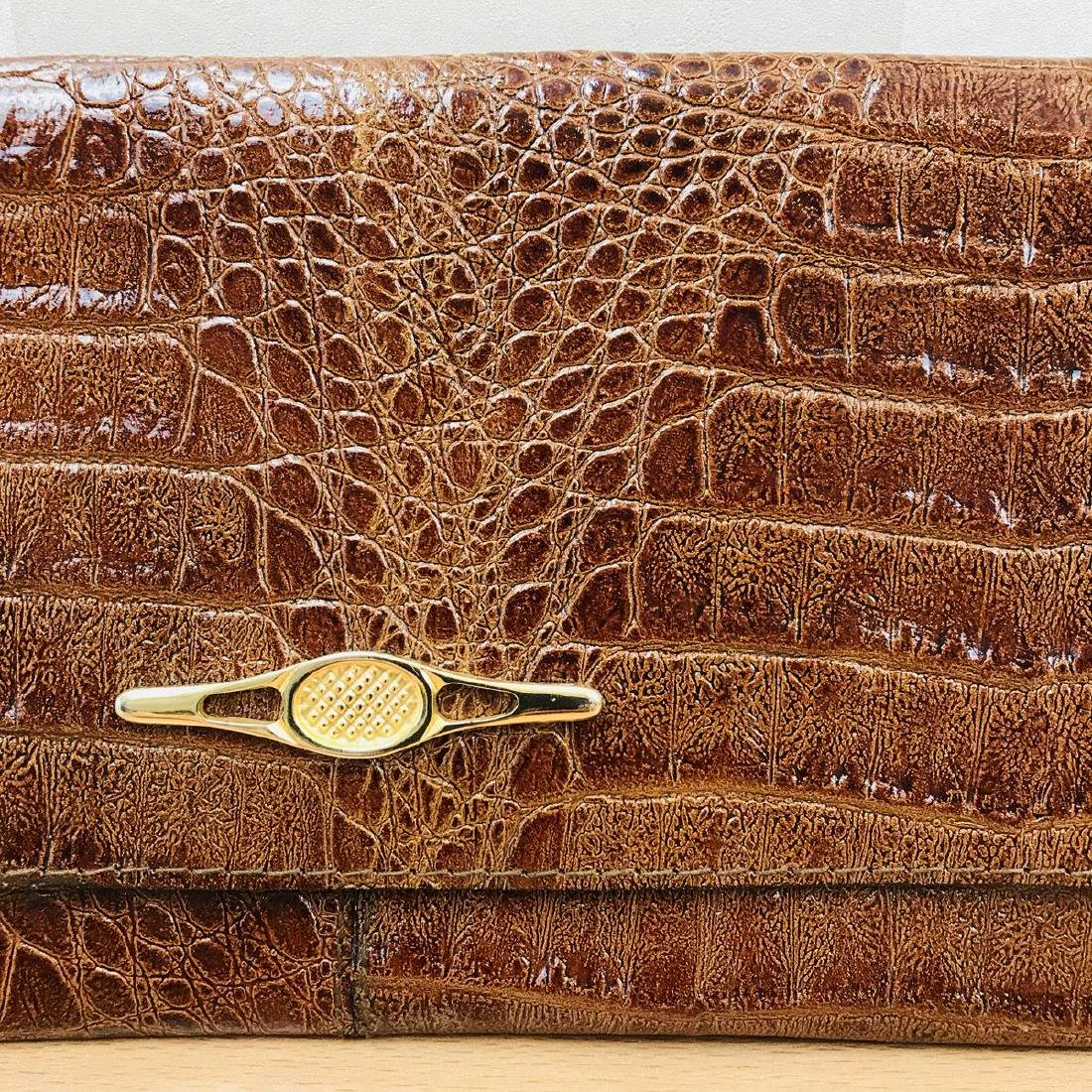 Vintage Crocodile Leather Clutch Bag - 3