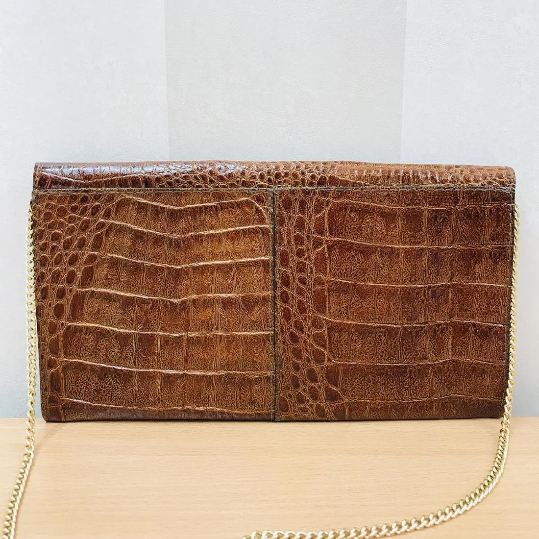 Vintage Crocodile Leather Clutch Bag - 6