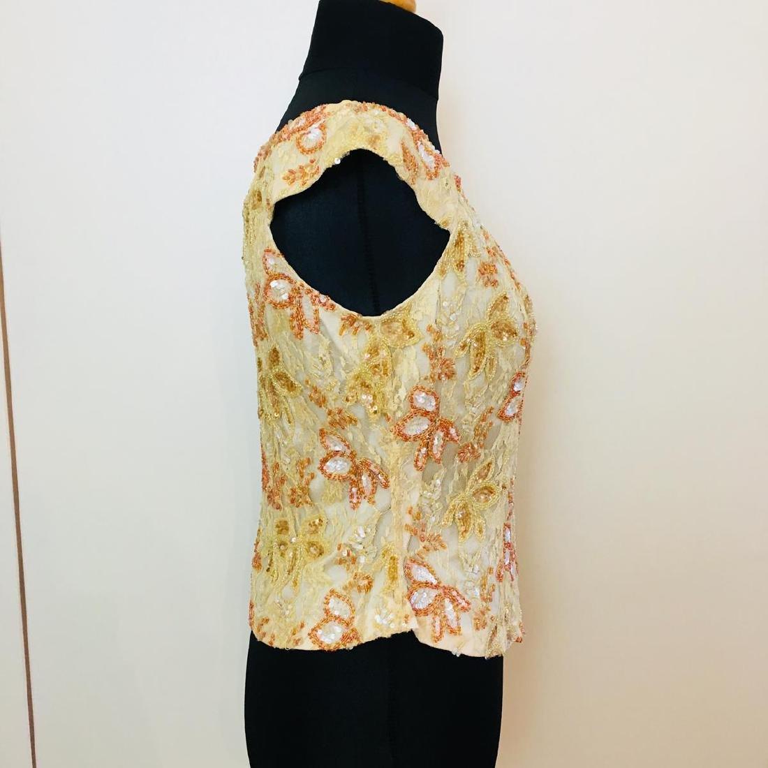 Vintage Women's Collection Designer Blouse Shirt Top - 4