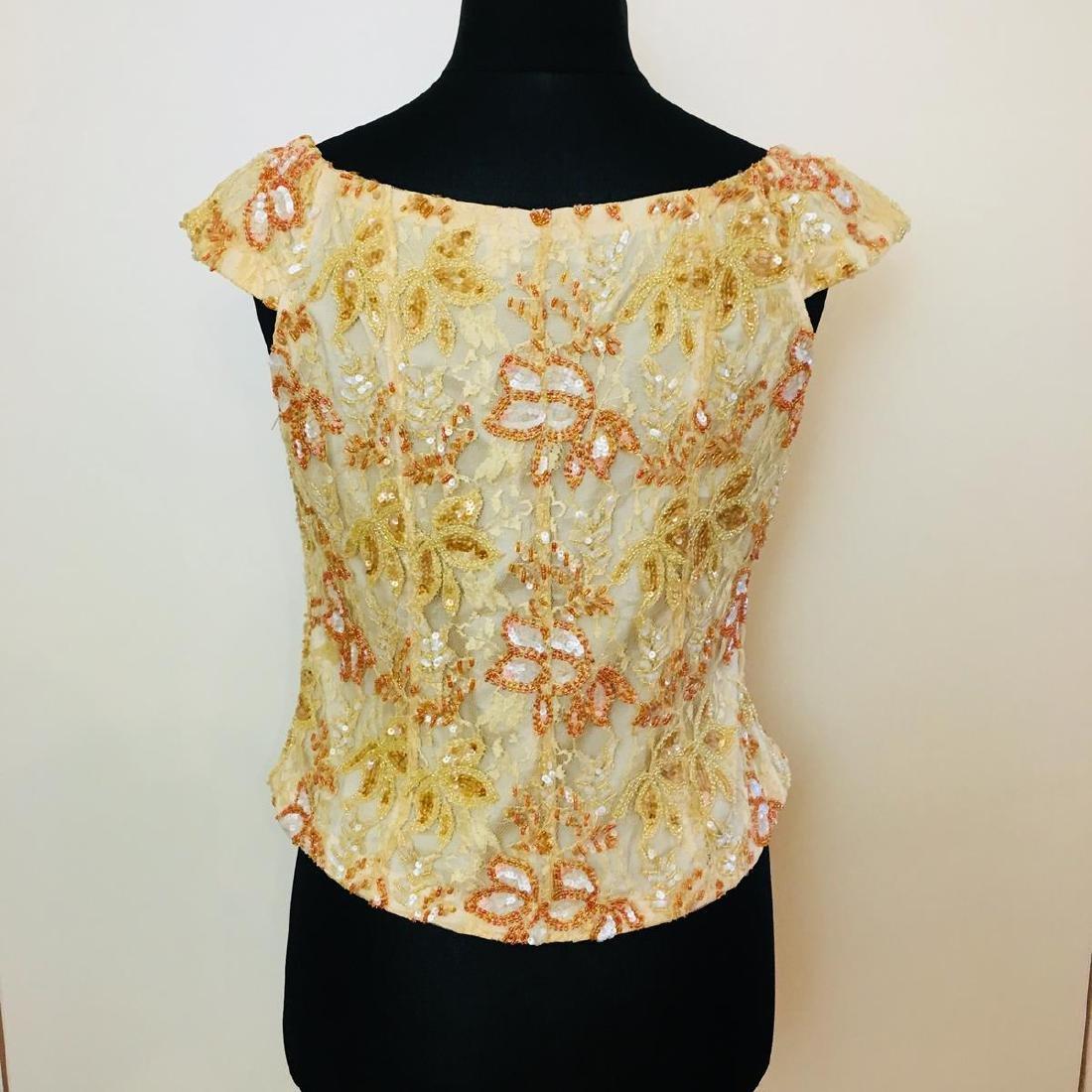 Vintage Women's Collection Designer Blouse Shirt Top - 5
