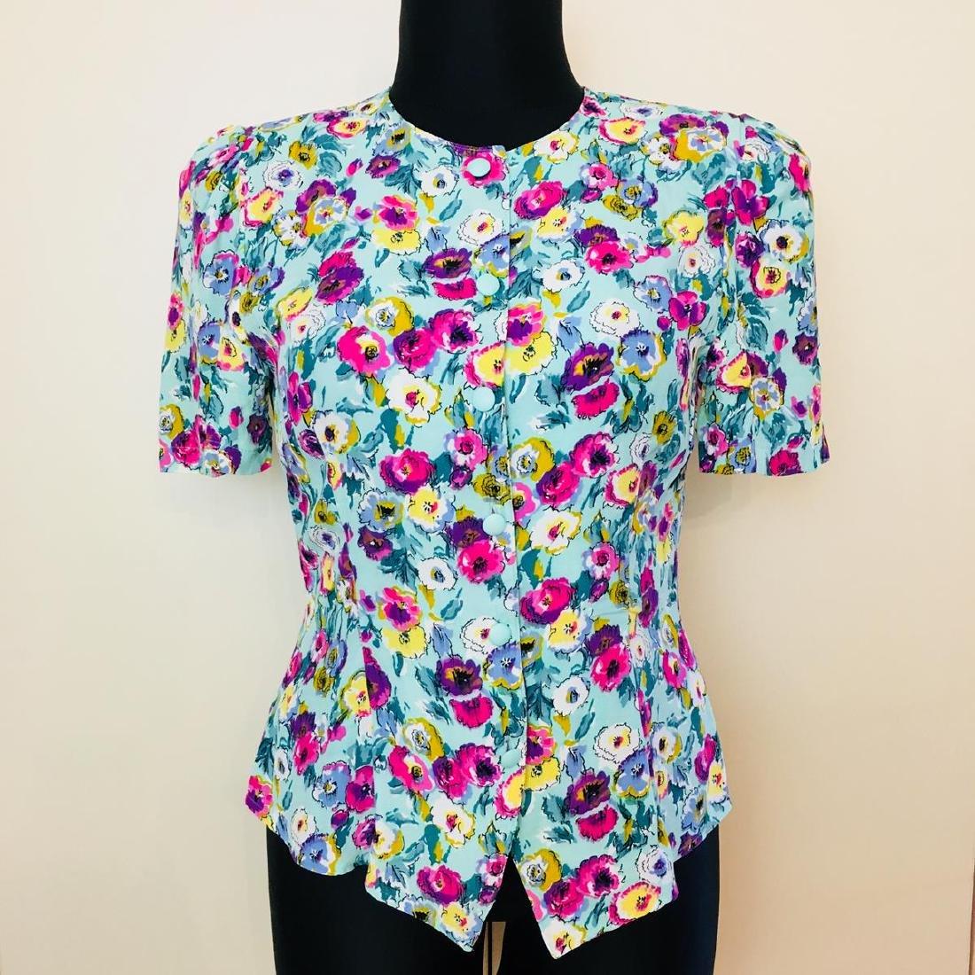 Vintage Women's Gigi Modelle Designer Blouse Shirt Top