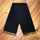 Burberry 100% Cashmere Black Scarf