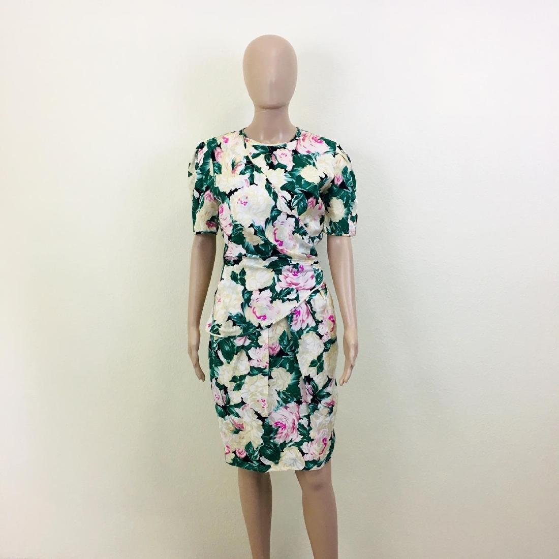 Vintage Women's Maggy London 100% Silk Dress