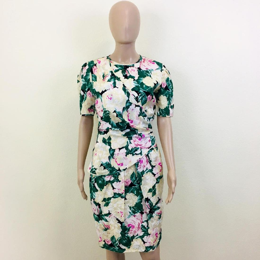 Vintage Women's Maggy London 100% Silk Dress - 2