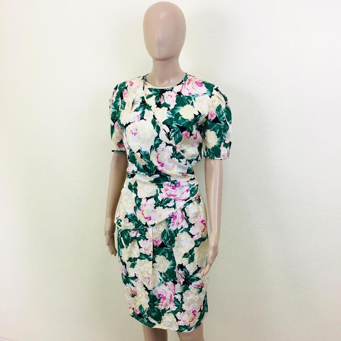 Vintage Women's Maggy London 100% Silk Dress - 3