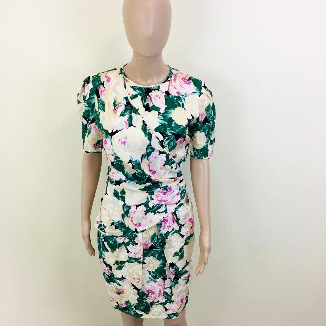 Vintage Women's Maggy London 100% Silk Dress - 4