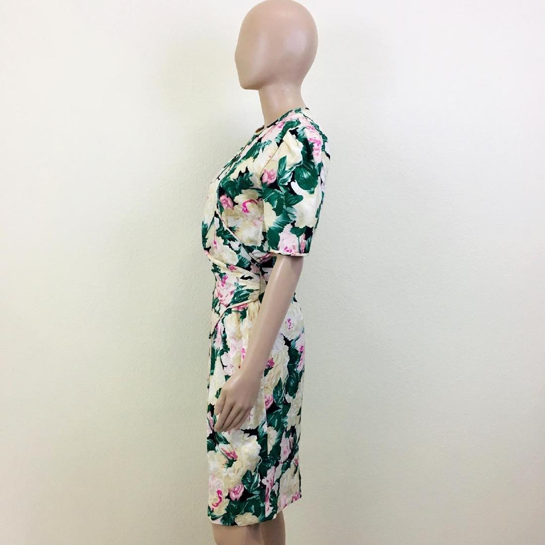 Vintage Women's Maggy London 100% Silk Dress - 6