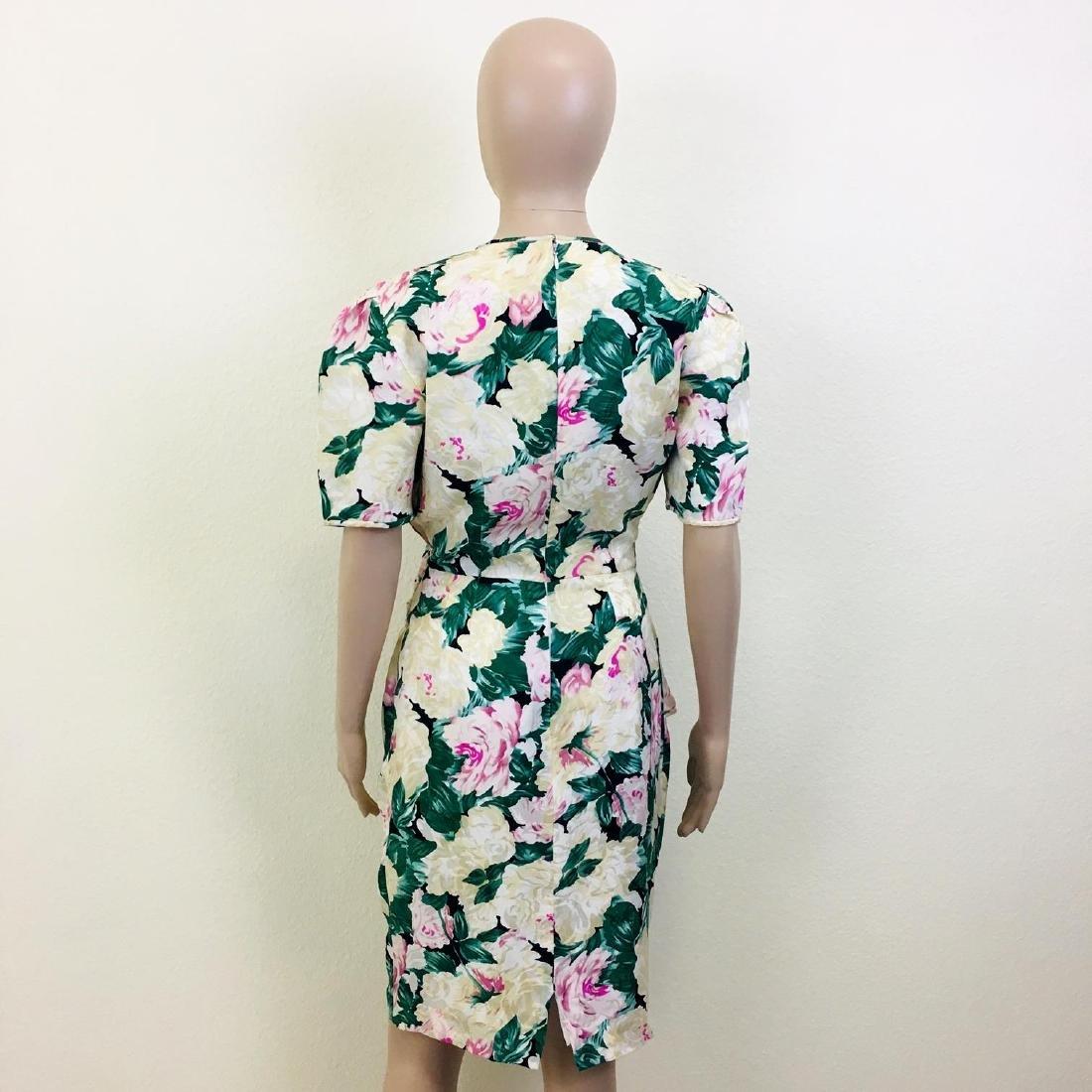 Vintage Women's Maggy London 100% Silk Dress - 7