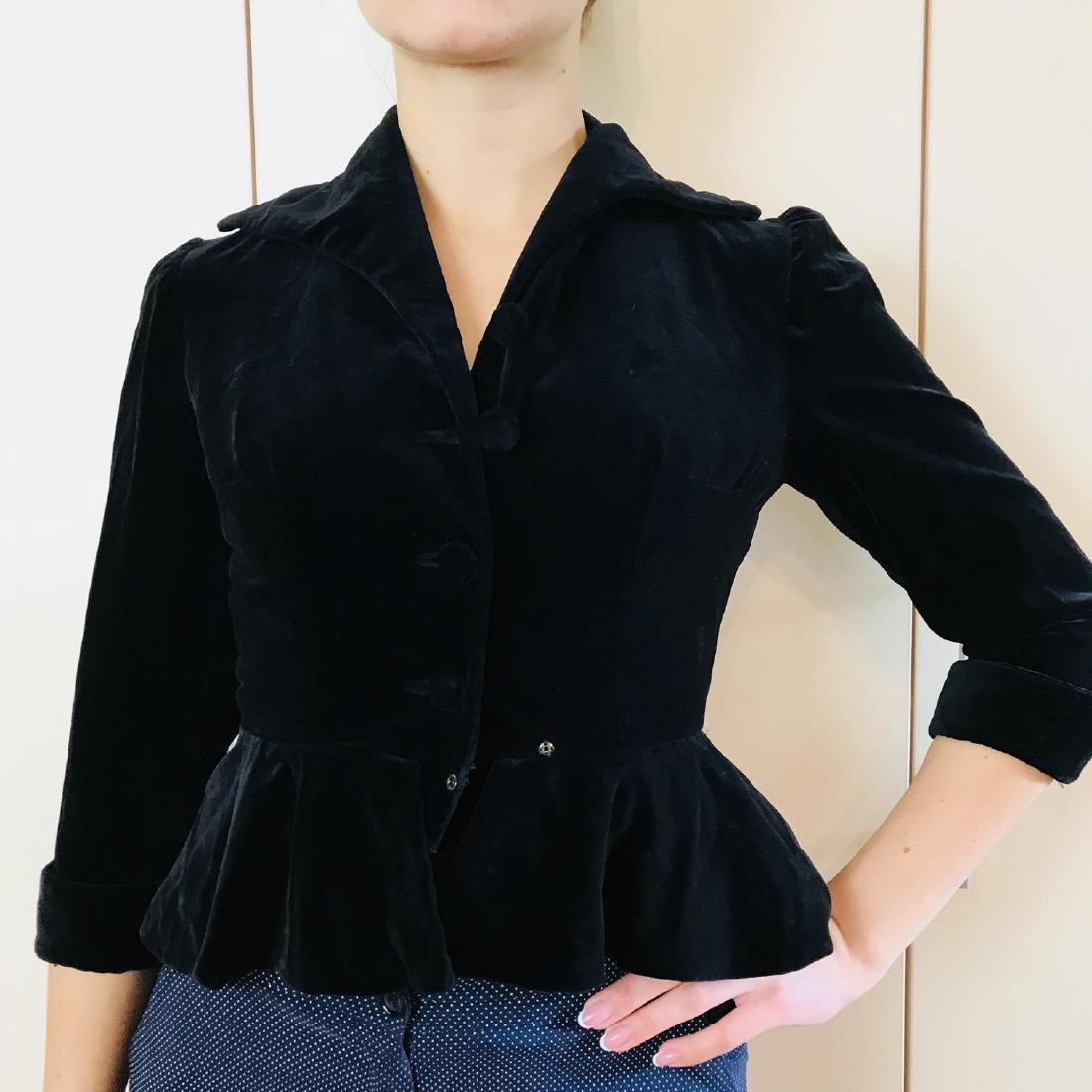 Vintage Women's Black Velvet Jacket Blazer