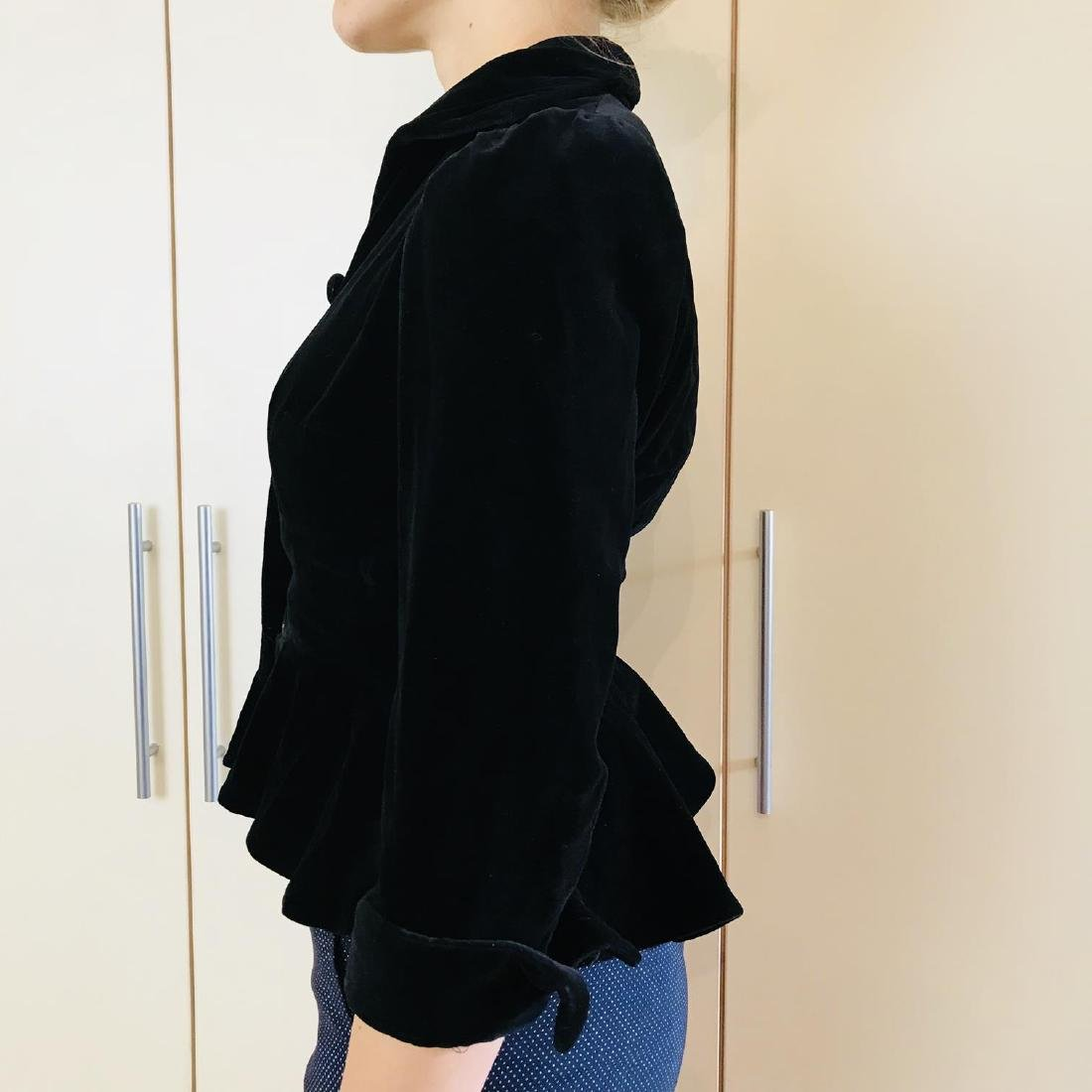 Vintage Women's Black Velvet Jacket Blazer - 5