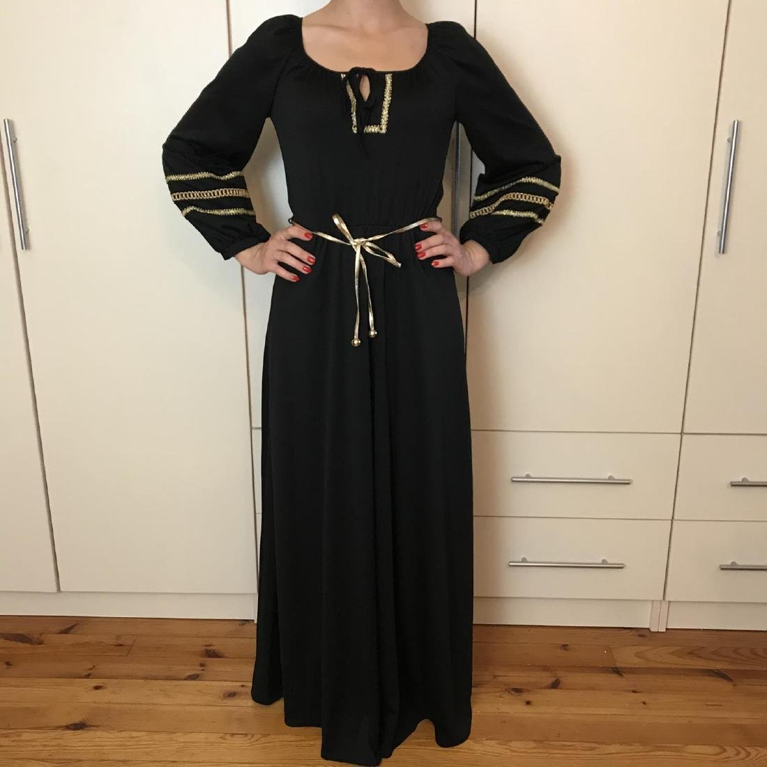 Betty Barclay Black / Gold Vintage Designer Dress