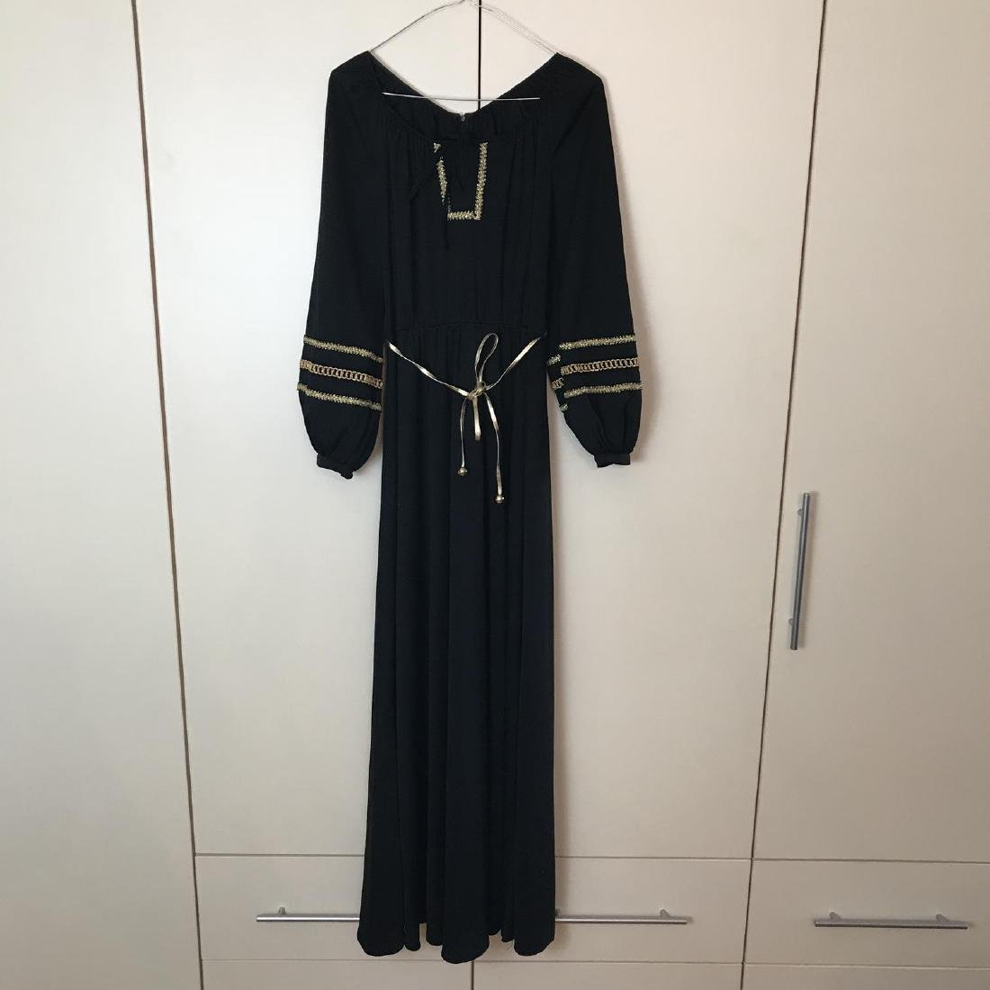 Betty Barclay Black / Gold Vintage Designer Dress - 4
