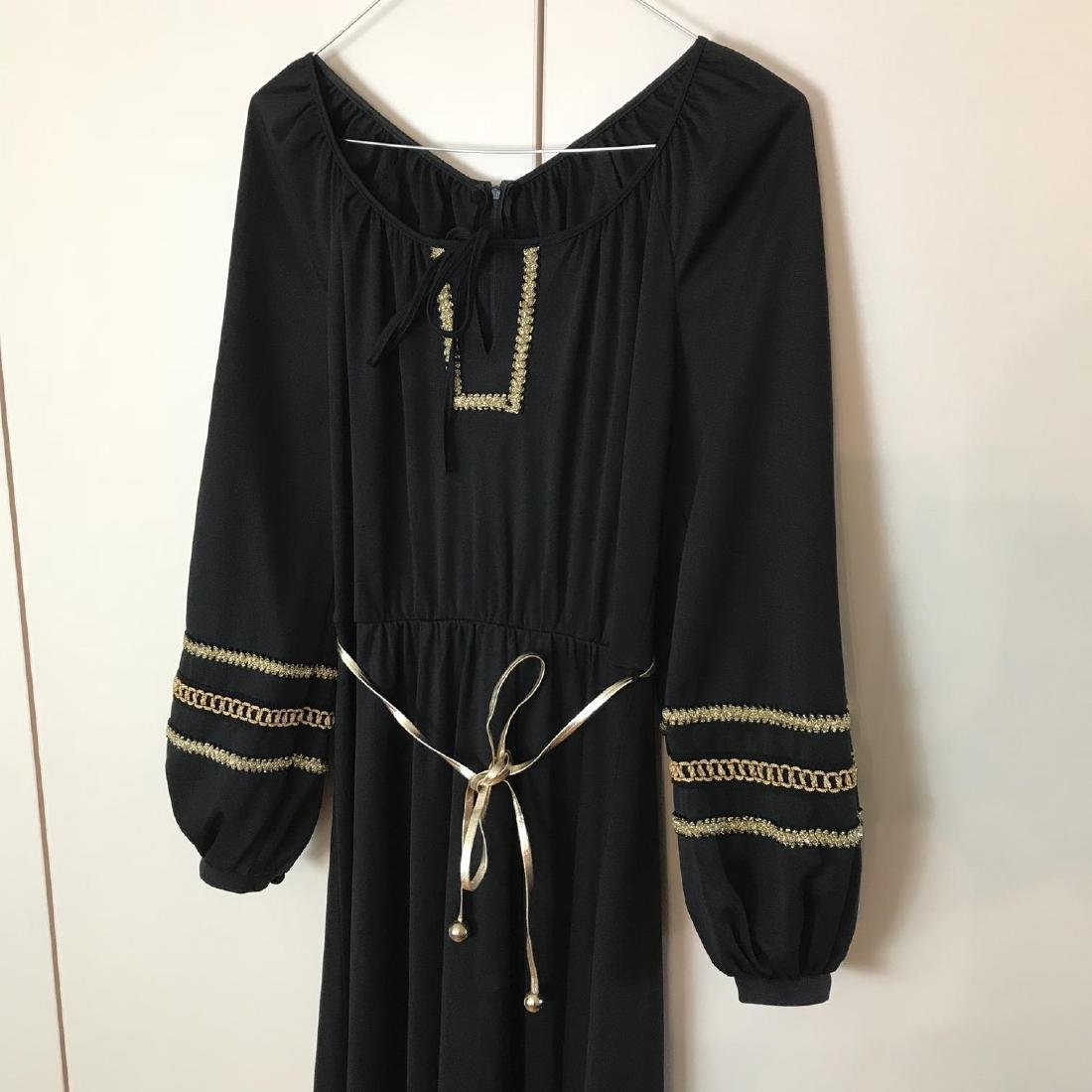 Betty Barclay Black / Gold Vintage Designer Dress - 5