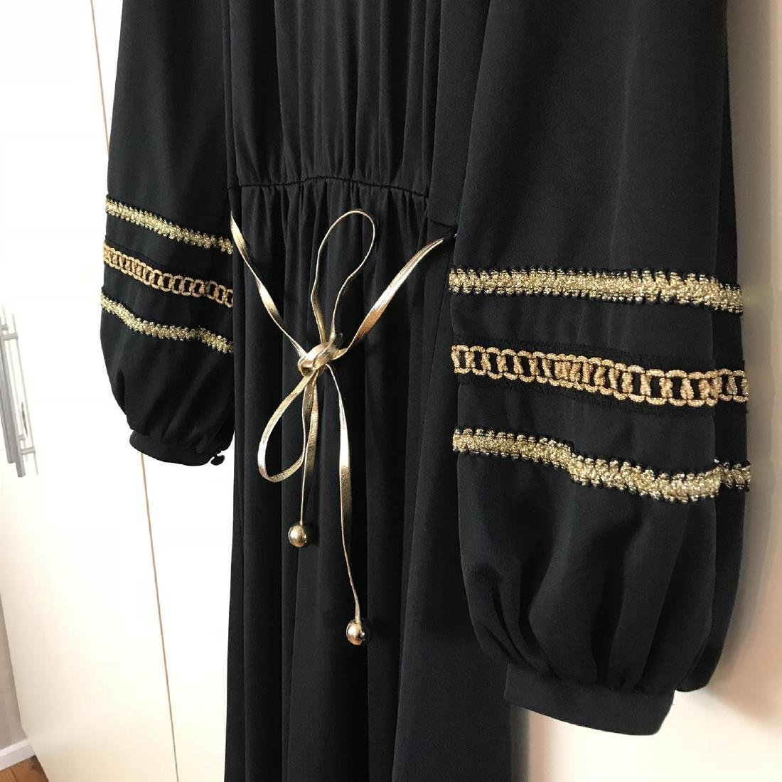 Betty Barclay Black / Gold Vintage Designer Dress - 6