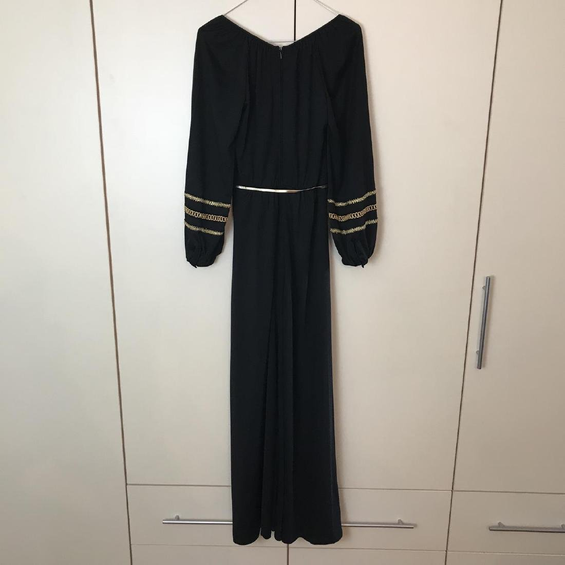 Betty Barclay Black / Gold Vintage Designer Dress - 7