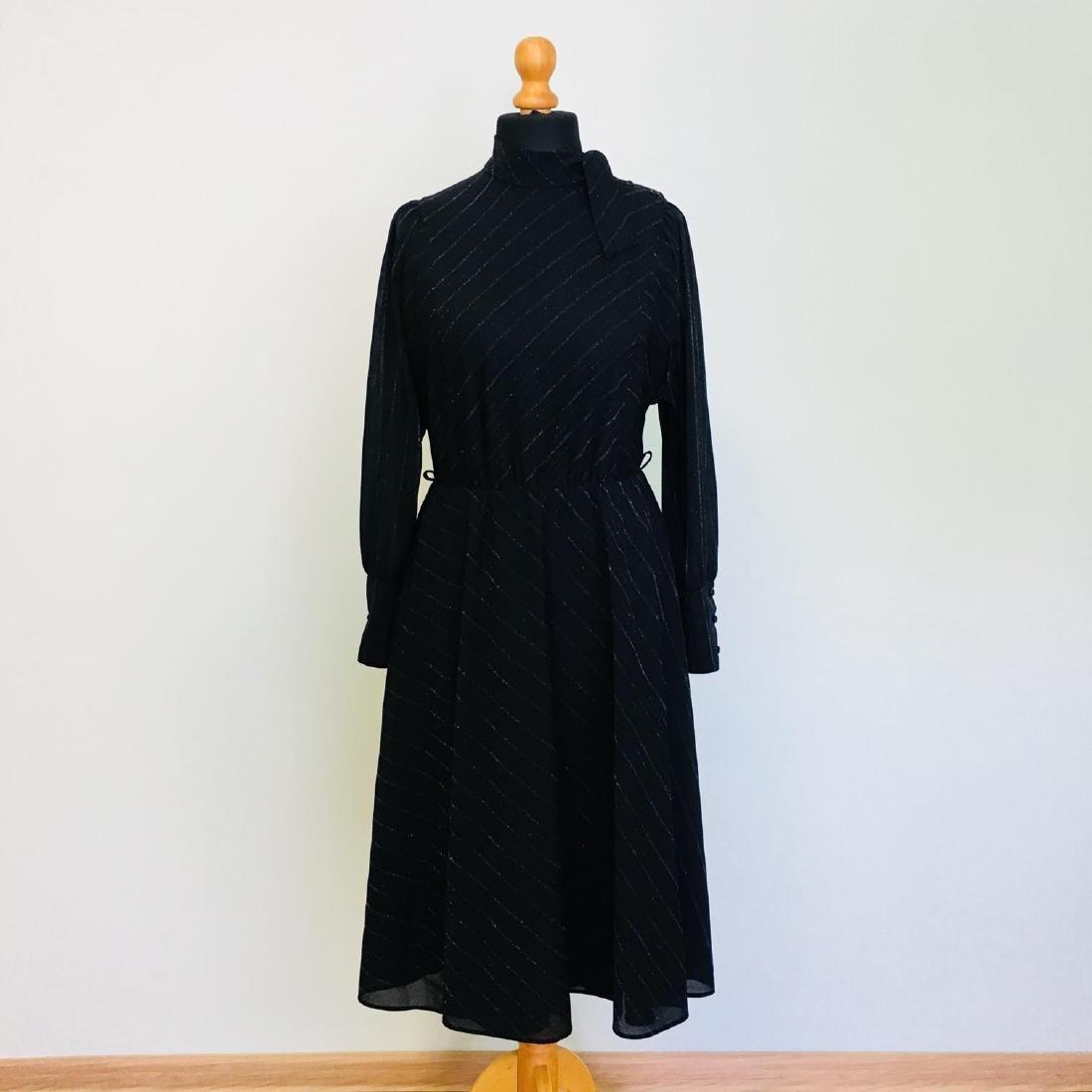 Vintage Women's Black Coctail Evening Dress