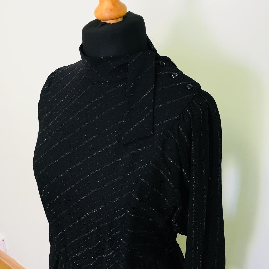 Vintage Women's Black Coctail Evening Dress - 3
