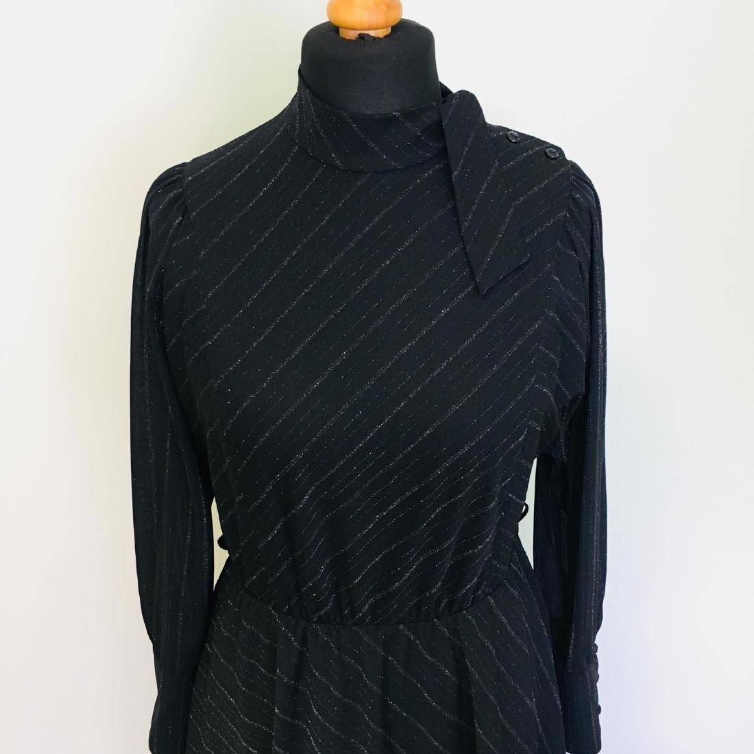 Vintage Women's Black Coctail Evening Dress - 4