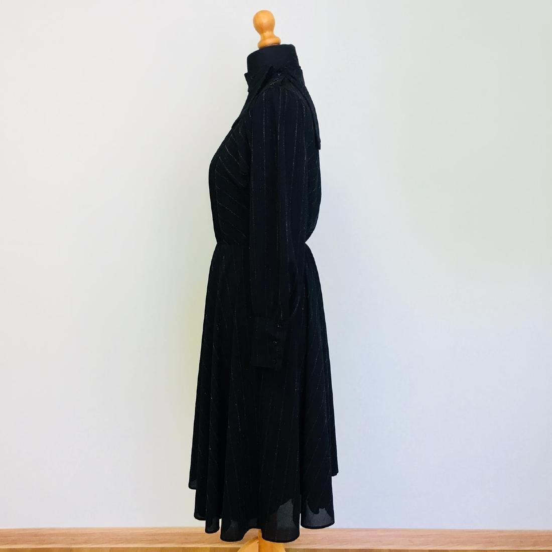 Vintage Women's Black Coctail Evening Dress - 5