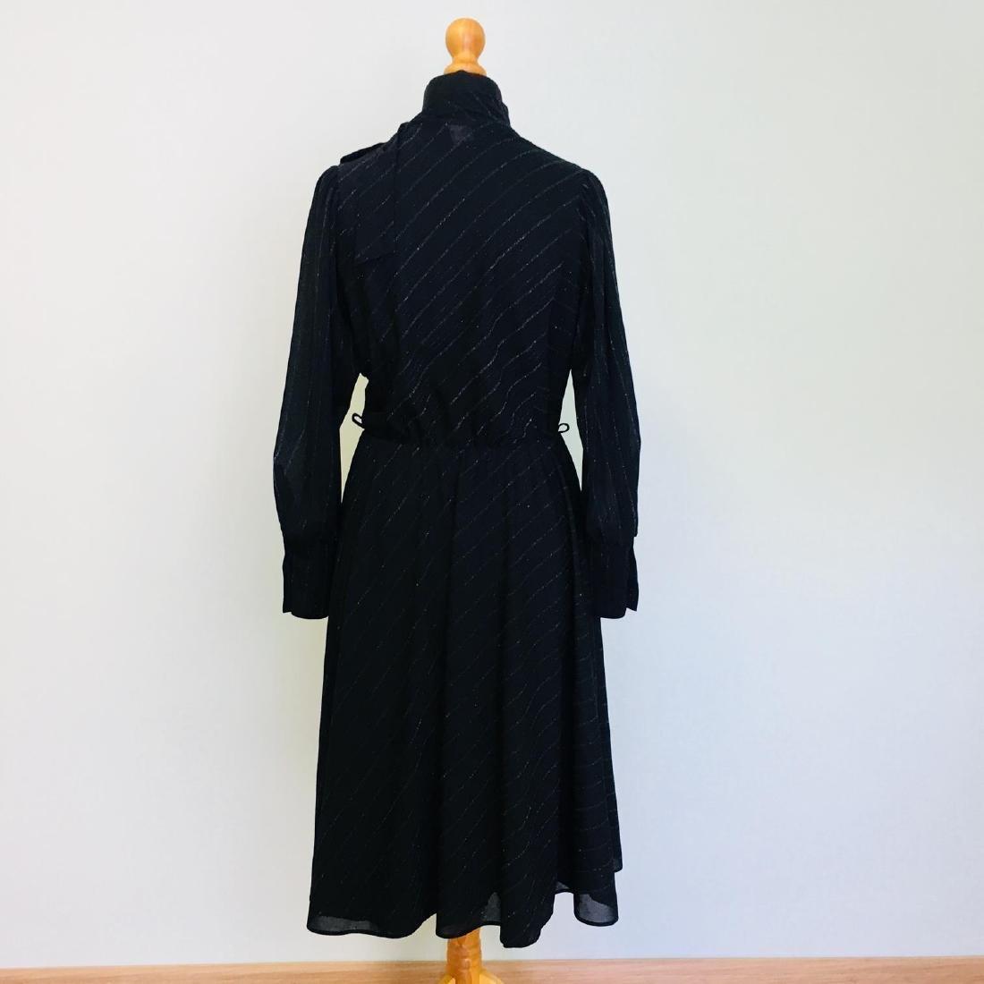 Vintage Women's Black Coctail Evening Dress - 6