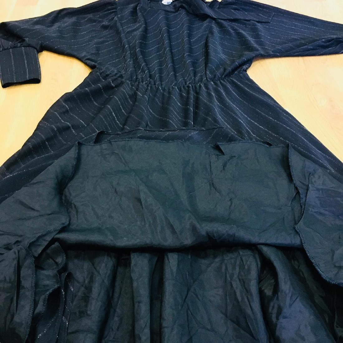 Vintage Women's Black Coctail Evening Dress - 8