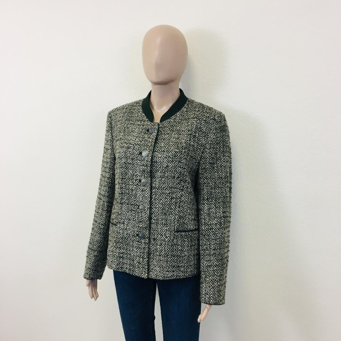 Women's Tyrolean Wool Blend Blazer Jacket - 3