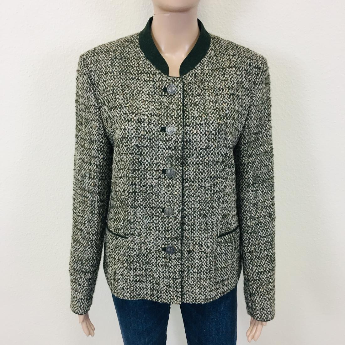 Women's Tyrolean Wool Blend Blazer Jacket - 4