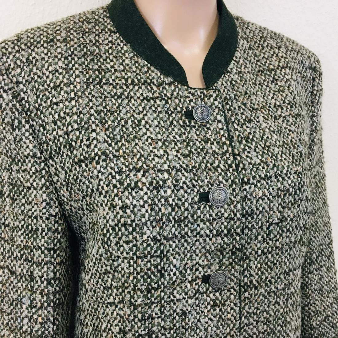 Women's Tyrolean Wool Blend Blazer Jacket - 5