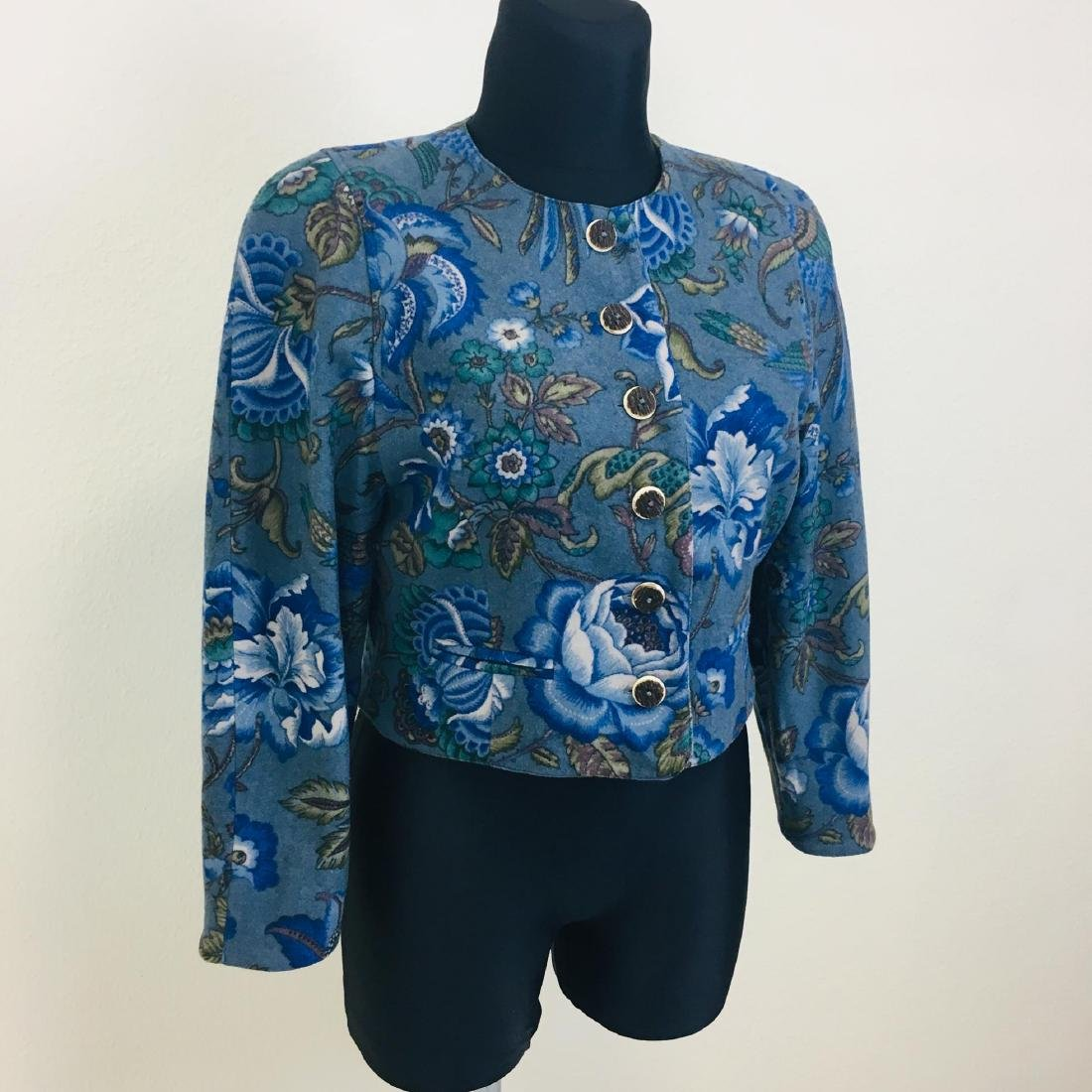 Vintage Women's Wool Blend Blazer Jacket - 2