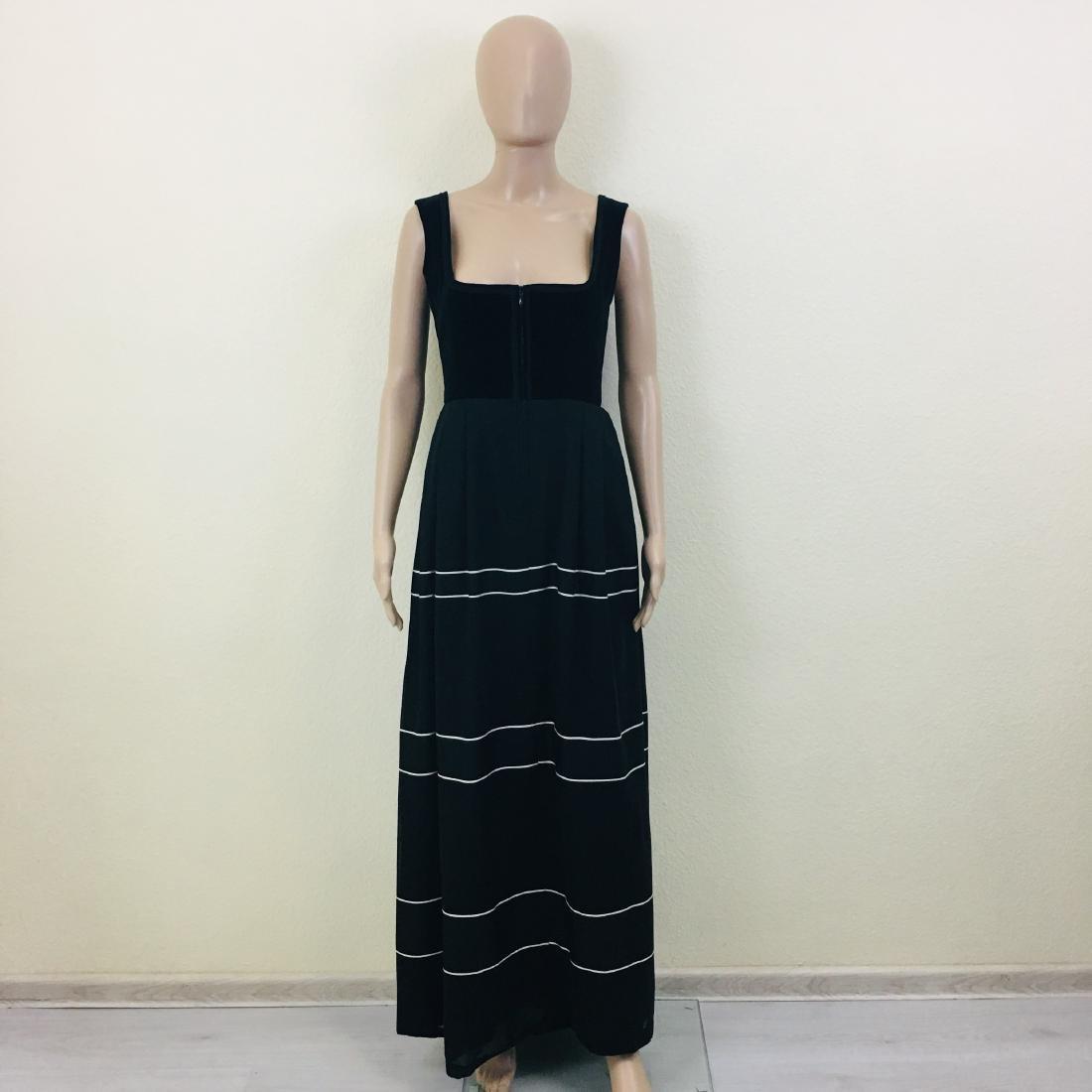 Vintage Women's Black Tyrolean Drindl Dress