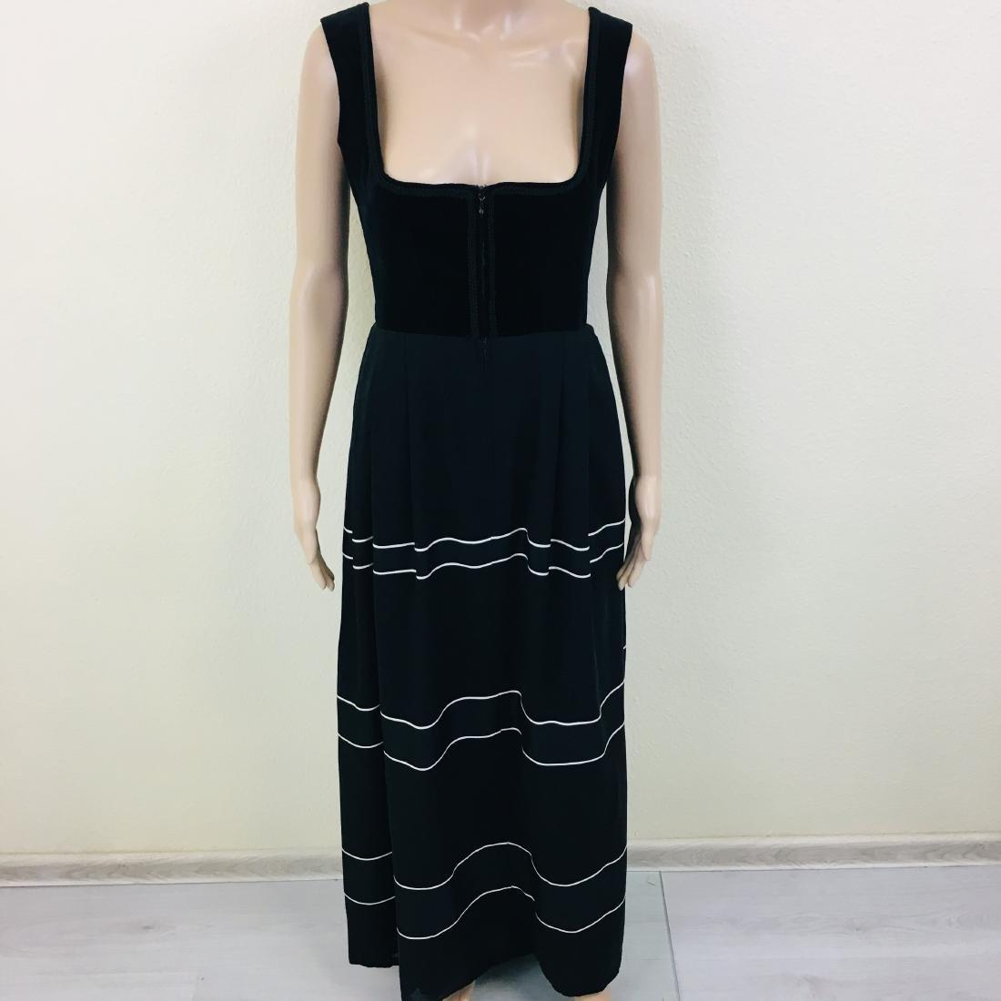Vintage Women's Black Tyrolean Drindl Dress - 3