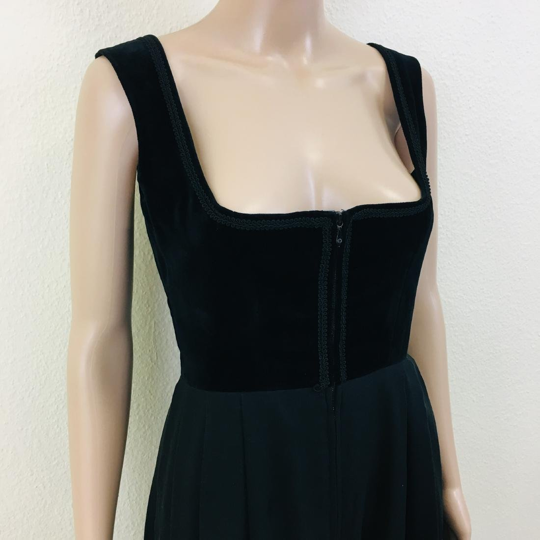 Vintage Women's Black Tyrolean Drindl Dress - 4