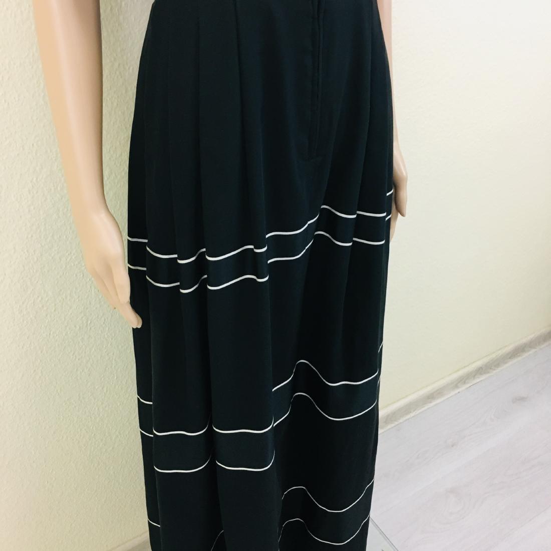 Vintage Women's Black Tyrolean Drindl Dress - 5