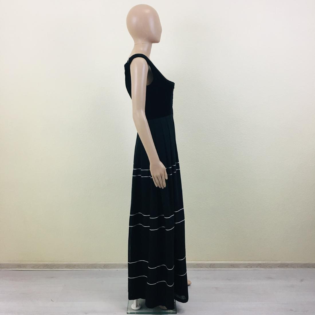Vintage Women's Black Tyrolean Drindl Dress - 6