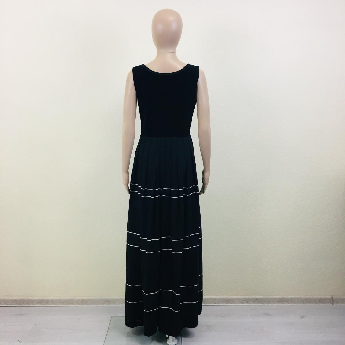 Vintage Women's Black Tyrolean Drindl Dress - 7