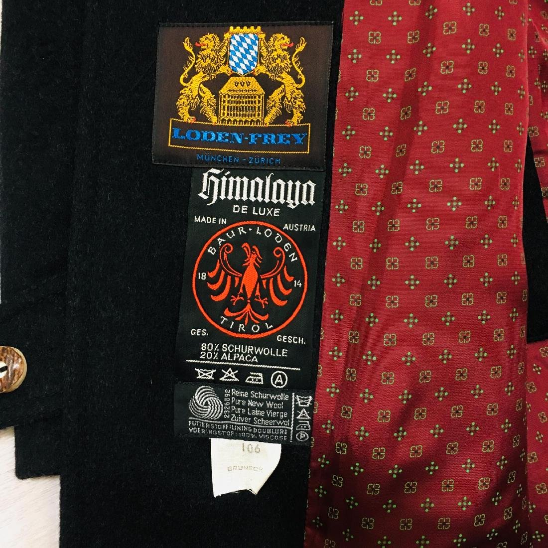 Men's LODENFREY German Designer Wool Blend Coat - 8
