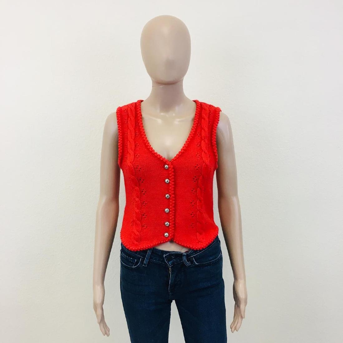 Women's Austrija Strick-Modelle Wool Blend Waistcoat