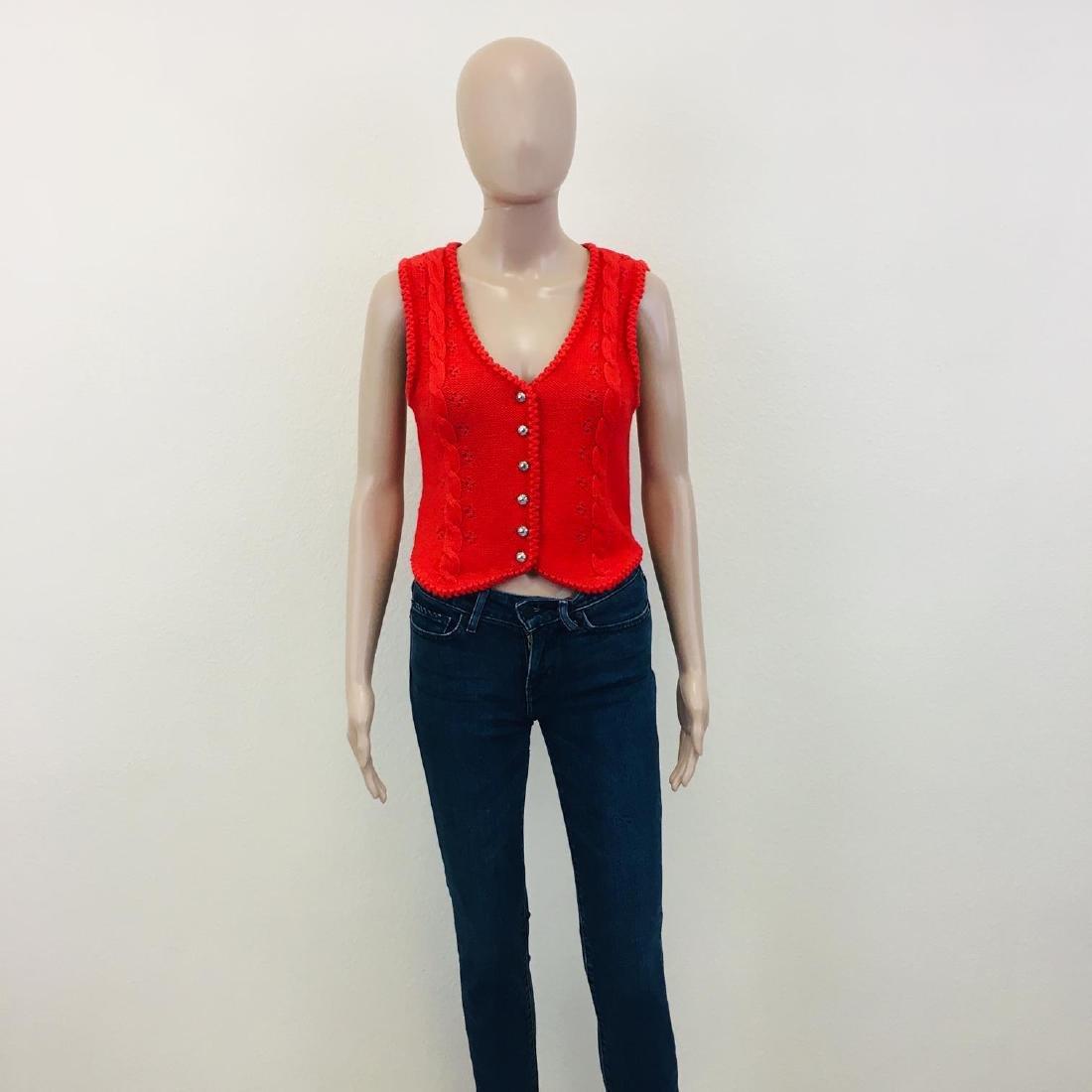 Women's Austrija Strick-Modelle Wool Blend Waistcoat - 2