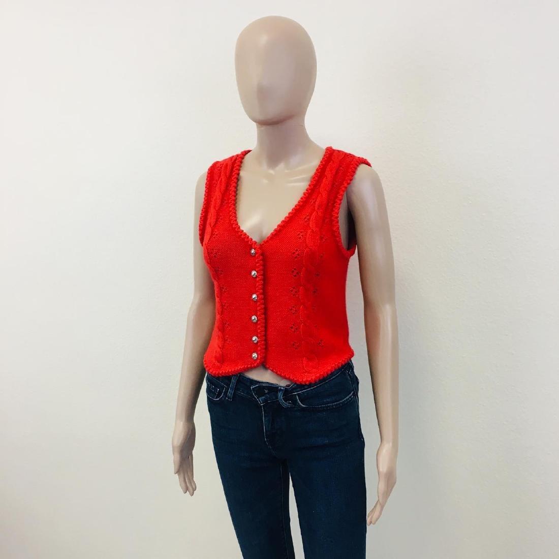 Women's Austrija Strick-Modelle Wool Blend Waistcoat - 3