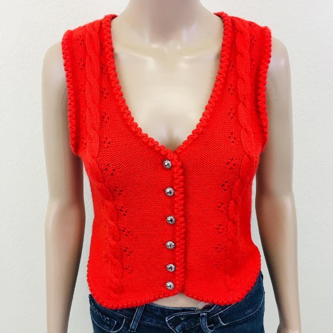Women's Austrija Strick-Modelle Wool Blend Waistcoat - 4