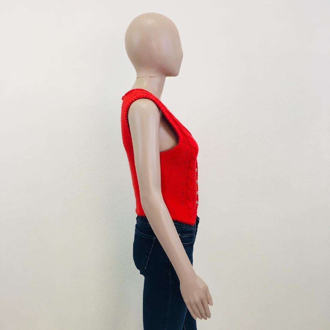 Women's Austrija Strick-Modelle Wool Blend Waistcoat - 6